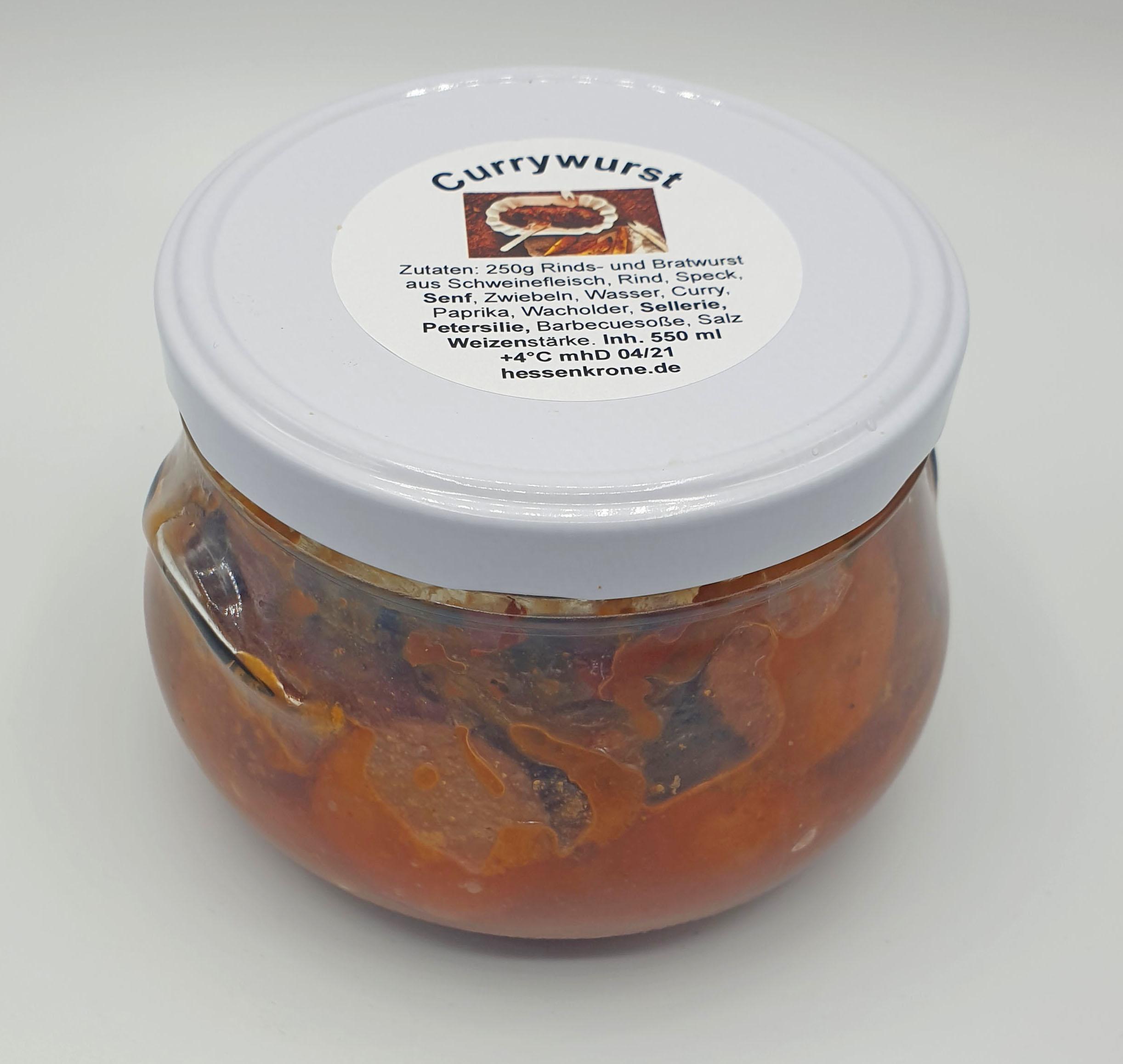 Currywurst im Glas 500ml